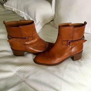 J Crew Leather Ankle Boots